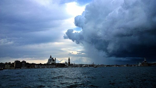 Venice, Thunderstorms, Horizon, Himmel, Water, Nature