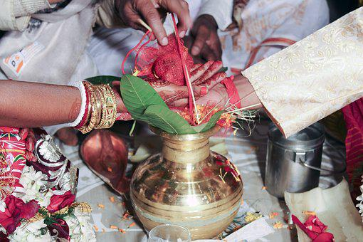 Indian, Rituals, During, Marriage, Arrangement, Wedding