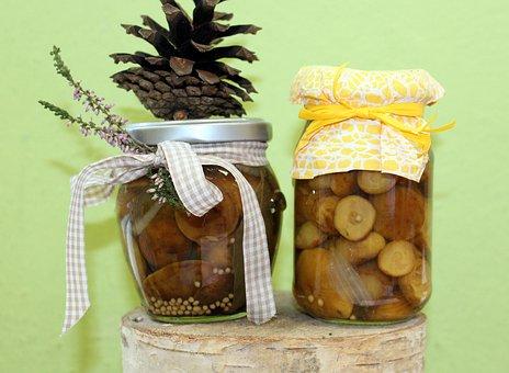 Stocks, Preparations, Marinated, Mushrooms, Jars