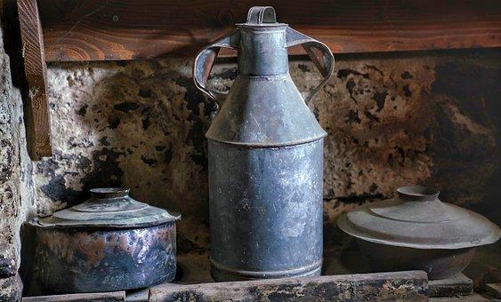 Monastery, Kitchen, Pots, Orthodox, Greek, Meteora