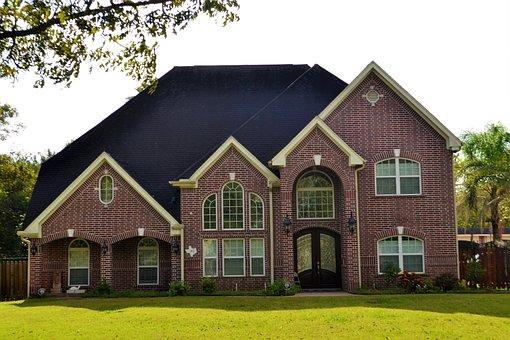 Brick House, Houston, Texas, Lawn, Paved, Luxury, Home