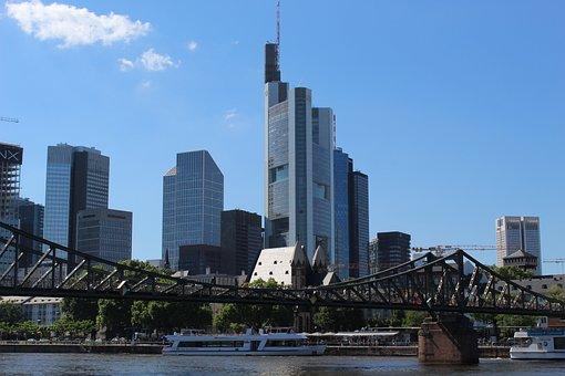 Frankfurt, Most, Main, Ecb, Architecture, Skyscrapers