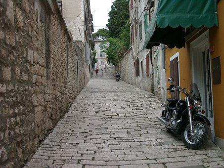 Paving Stones, Pavement, Alley, Perspective, Old Town