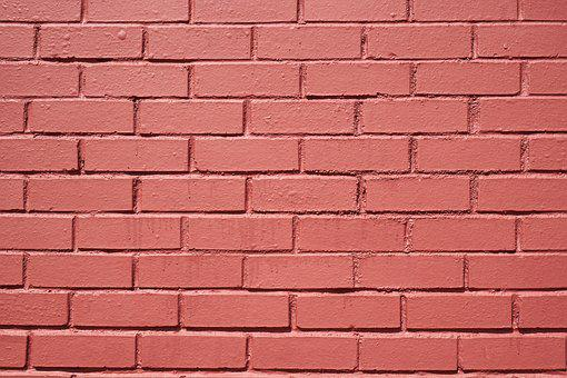 Brick Wall, Red, Pink, Stone, Brick, Wall, Macro