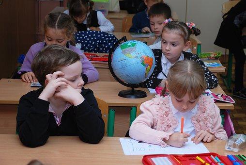 School, Lesson, Class, Girl, Study, Globe, Apprentice