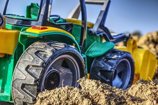Tractor, Close, Macro, Toys, Children Toys, Child