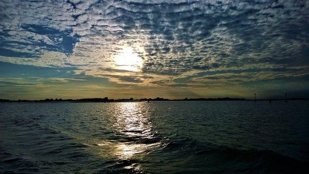 Sunset, Himmel, Sea, Horizon, Cloud, Water, Twilight
