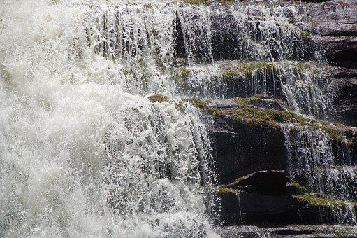 Fall Of Water, Waterfall, River, Water, Gran Sabana