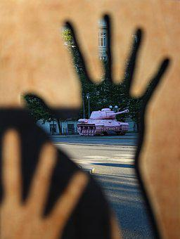 Tank, Pink, Art, Street Art, Weapon, Statement
