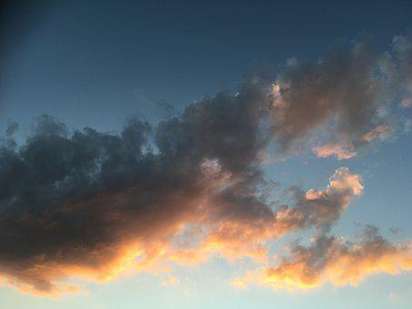 Sky, Sun, Color, Abendstimmung, Sunset, Clouds