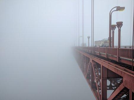 Golden Gate Bridge, Mist, Architecture, Building, Sky