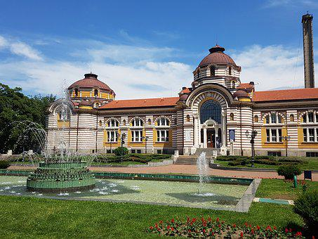 Sofia, Building, City, Architecture, Waterfountain