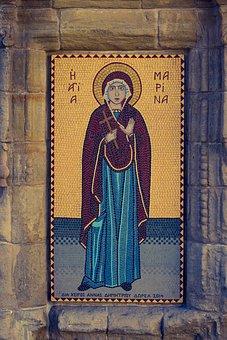 St Marina, Mosaic, Church, Orthodox, Architecture