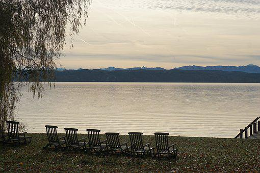 Lake, Twilight, Abendstimmung, Atmospheric, Landscape
