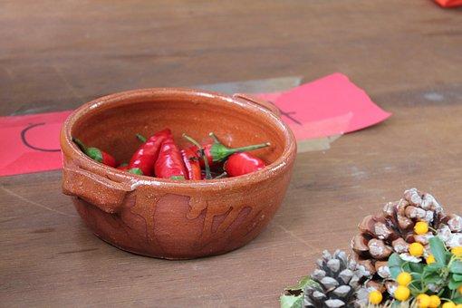 Chili Pepper, Bowl, Autumn