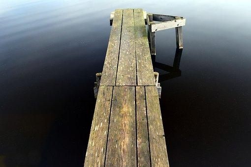 Web, Wood, Away, Lake, Pond, Water, Boardwalk, Battens