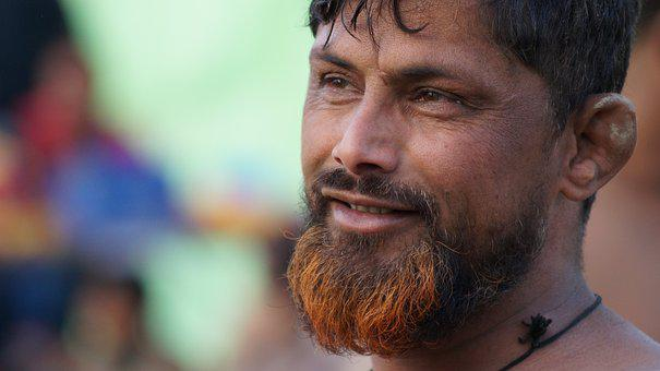 Indian, Man, Beard, Male, Young, Face, Ethnic, Looking