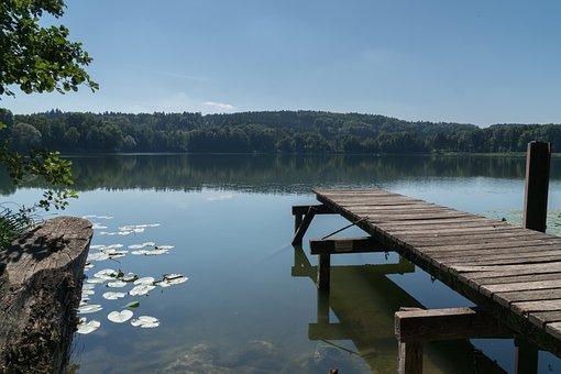 Lake, Water, Landscape, Summer, Sky, Blue, Pond, Web