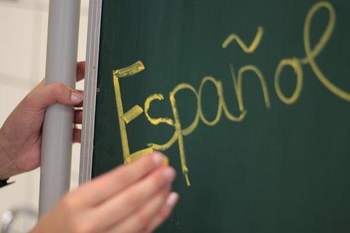 Spanish, Teaching, Board, School, Blackboard, Chalk