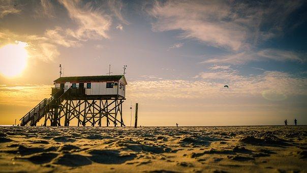 North Sea, Coast, Sea, Beach, Fish, Water, Dramatic Sky