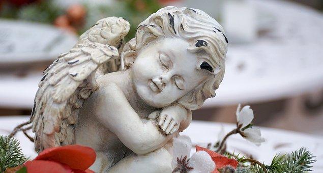 Angel, Wing, Figure, Deco, Flowers, Decoration