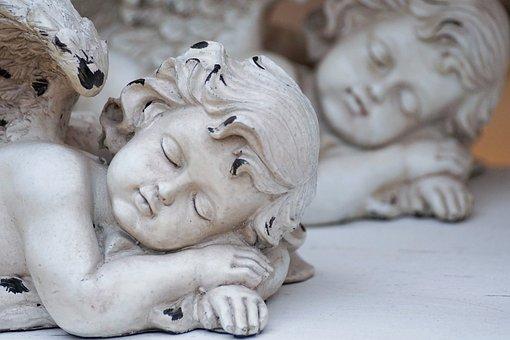 Angel, Wing, Sleep, Figure, Guardian Angel, White, Deco