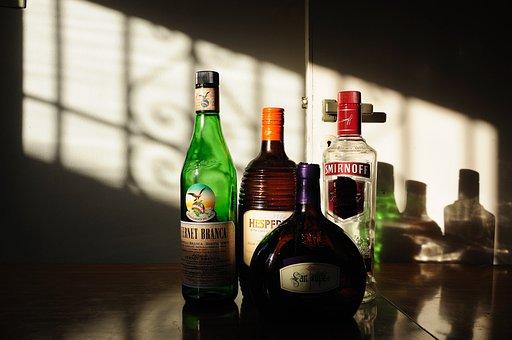 Bottles, Alcohol, Drink