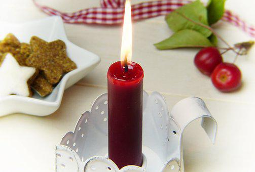 Candle, Red, Embellishment, Loop, Candle Holders
