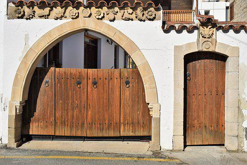 Gate, Door, Entrance, House, Architecture, Traditional