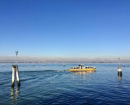 Water Taxi, Venice, Italy, Boat, Italian, Europe