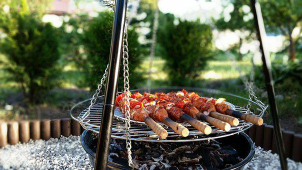 Grill, Summer, Eating, Sausage, Sausages, Grilling