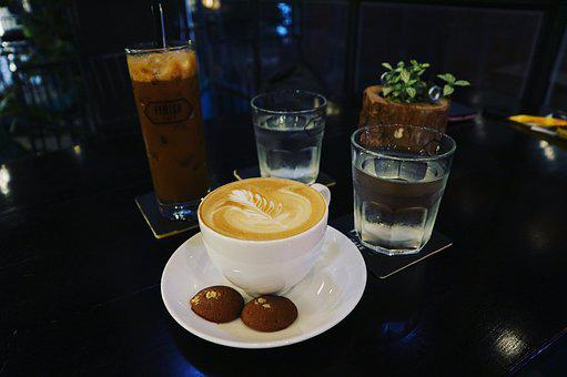 Coffee, Table, Tea, Cup, Drink, Cafe, Food, Desk, Hot