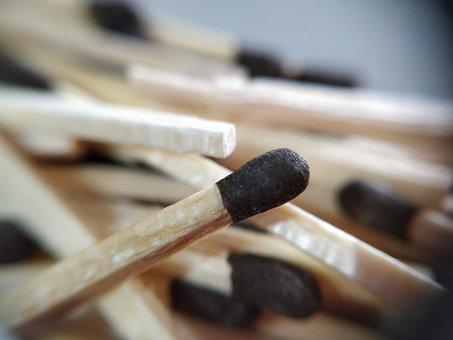 Matchsticks, Wood, Macro, Colourful