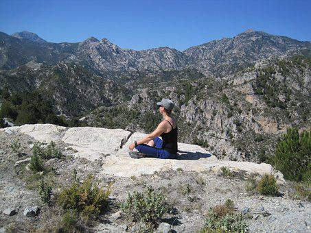 Mountains, Meditation, Nature, Woman, Hiking, Landscape