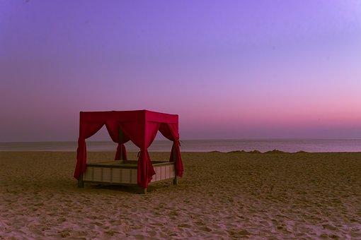 Twilight, Beach, Leave, Romantic, Sky, Mood, Sea, Sun