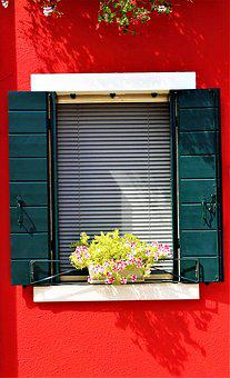 Window, Venice, Burano, Italy, Colorful, Picturesquely