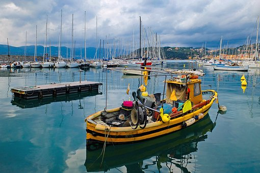 Harbour, Port, Boat, Fishing Boat, Ship, Sea, Lerici