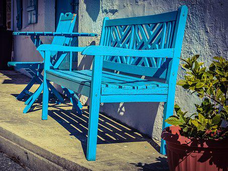 Bench, Shop, Street, Village, Psematismenos, Cyprus