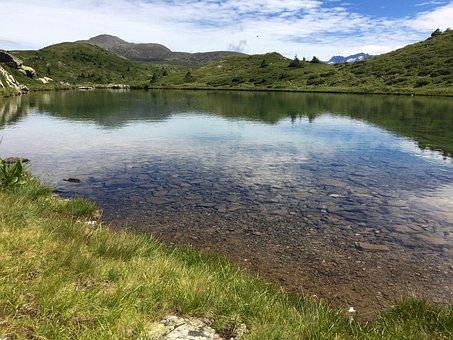 Mountain, Lake, Fouchu, Nature, Alps, Ornon, Rock
