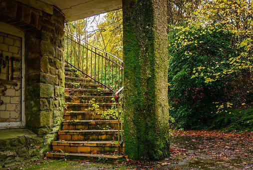 Stairs, Lost Places, Pforphoto, Emergence, Gloomy