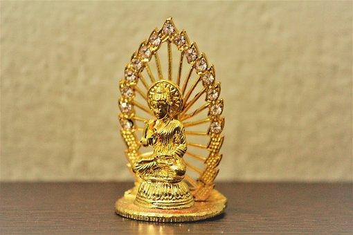 Buddha, Golden, Statue, Asia, Buddhism, Buddhist