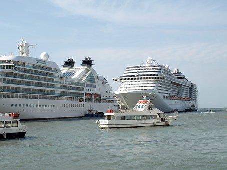 Msc Cruises, Venezia, Port, Boat, Cruise Ship