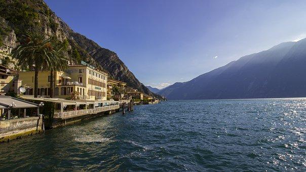 Limone, Garda, Italy, Lake, West Bank, Lombardy, Sky