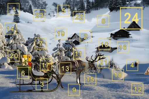 Advent Calendar, Christmas, Christmas Time, Advent