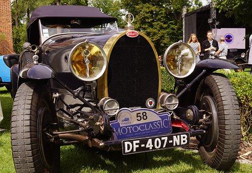 Bugatti, Old Auto, Antique, Antique Auto, Old Car