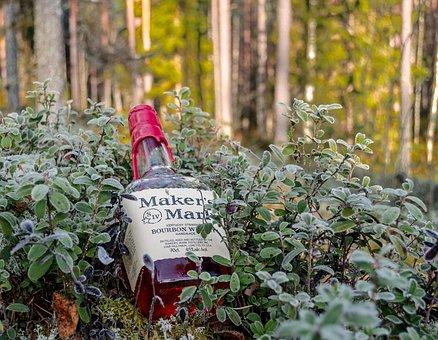 Whiskey, Makers Mark, Bourbon, Blend Whiskey, American