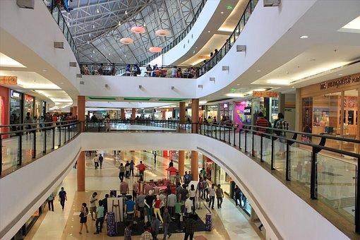 Shopping, Mall, Stock, Indoors, Escalator, Business