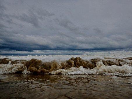 Beach, Sea, Water, Sand, Waves, Surf, Coastline, Coast