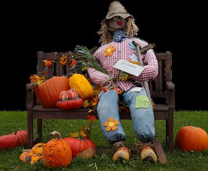 Pumpkin, Woman Of Straw, Doll, Deco, Straw, Autumn