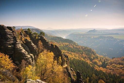 Schrammsteine, Elbe Sandstone Mountains, Climb, Germany